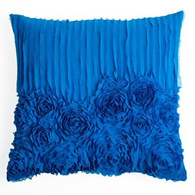 Denika  Throw Pillow Color: Peacock Blue