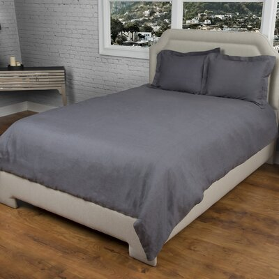 Cherrilyn  Duvet Cover Size: King, Color: Charcoal