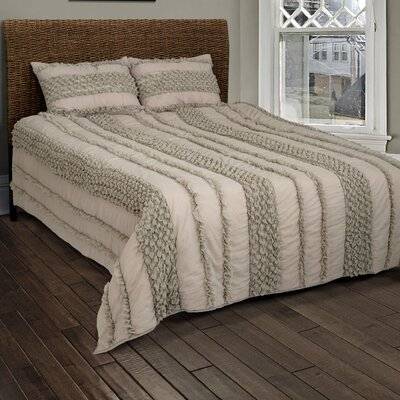 DAna 4 Piece Quilt Set Color: Taupe/Gray, Size: Full/Queen