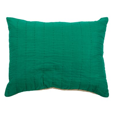 Sham Size: Standard, Color: Emerald Green/Khaki