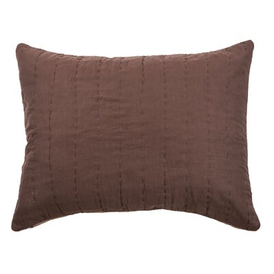 Sham Size: Standard, Color: Brown/Mocha