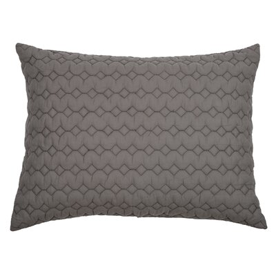 Danaca  Quilted Sham Size: King, Color: Gray