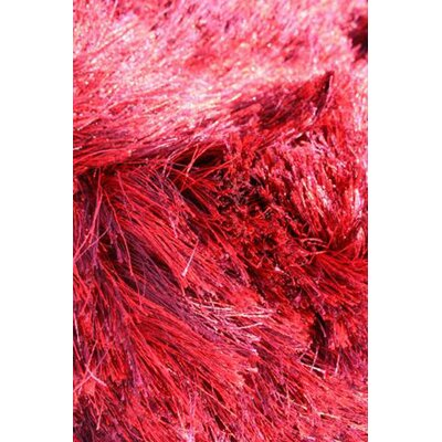 Silk Hand-Woven Red Area Rug Rug Size: 4 x 6