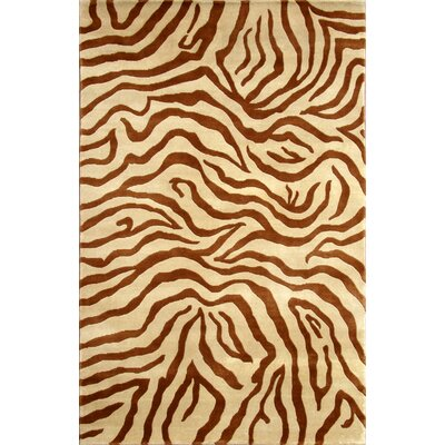 Soho Hand-Knotted Beige/Brown Area Rug Rug Size: 8 x 10