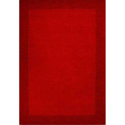 Henley Hand-Tufted Red Dark Area Rug Rug Size: 5 x 8