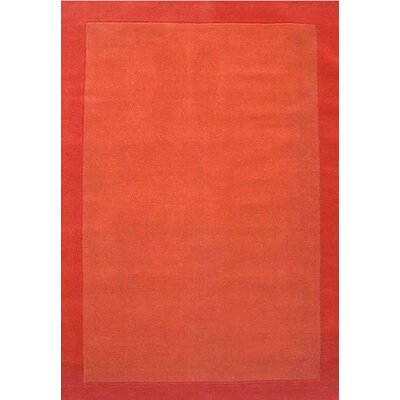Henley Hand-Tufted Orange Dark Area Rug Rug Size: 5 x 8