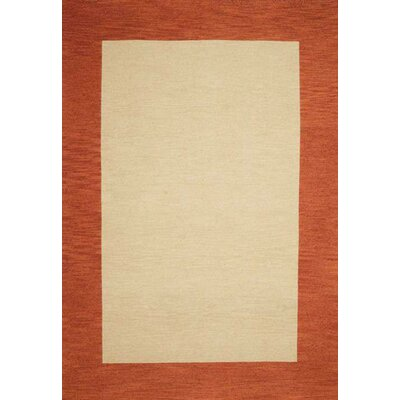 Henley Hand-Tufted Cardinal Terra Cotta Area Rug Rug Size: 5 x 8
