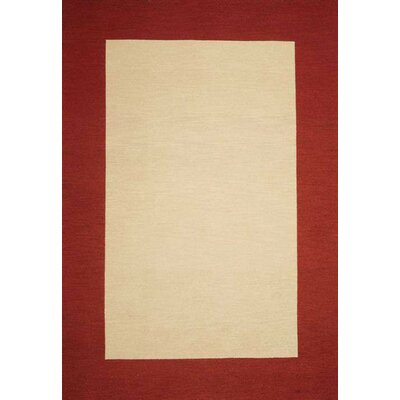 Henley Hand-Tufted Beige/Red Area Rug Rug Size: 9 x 12