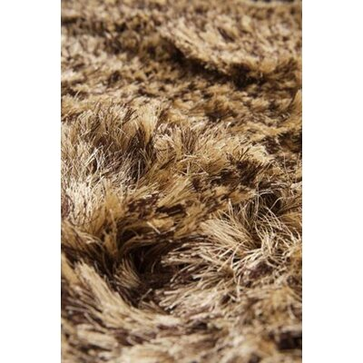 Silk Hand-Woven Brown/Beige Area Rug Rug Size: Rectangle 4 x 6