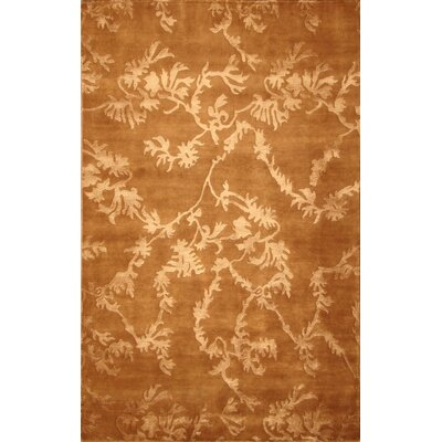 Soho Hand-Knotted Brown Area Rug Rug Size: 5 x 8