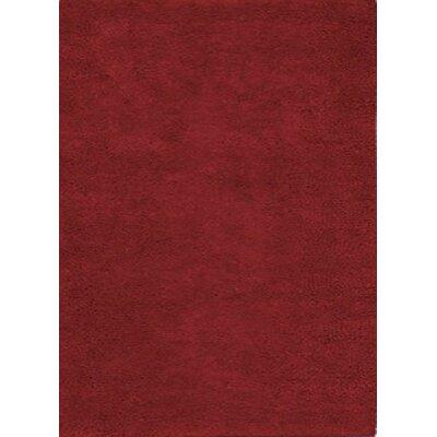 Henley Hand-Tufted Maroon Area Rug Rug Size: 5 x 8