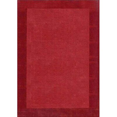 Henley Hand-Tufted Wine Dark Area Rug Rug Size: 5 x 8