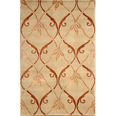 Soho Hand-Knotted Beige/Brown Area Rug Rug Size: 8' x 10'