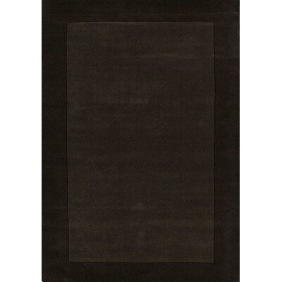 Henley Hand-Tufted Charcoal Dark Area Rug Rug Size: 5 x 8