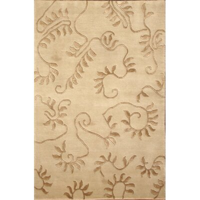 Soho Hand-Knotted Ivory/Beige Area Rug Rug Size: 8 x 10