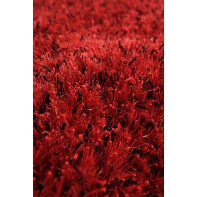 Silk Hand-Woven Red/Black Area Rug Rug Size: 5 x 8