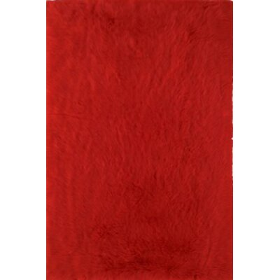 Henley Hand-Tufted Red Area Rug Rug Size: 5 x 8