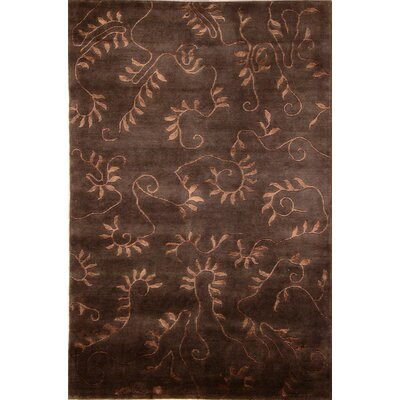 Soho Hand-Knotted Chocolate Brown Area Rug Rug Size: 8 x 10
