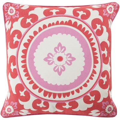 Moroccan Cotton Throw Pillow Size: 20 H x 20 W x 5 D, Color: Poppy, Filler: Down