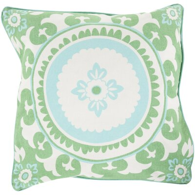 Moroccan Cotton Throw Pillow Size: 20 H x 20 W x 5 D, Color: Emerald / Kelly Green, Filler: Polyester