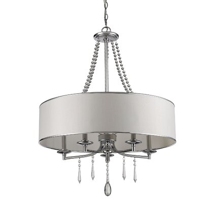 Elise 5-Light Drum Chandelier Shade Color: Bridal