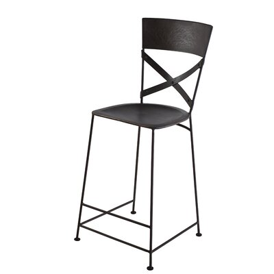 Dayton 26 Bar Stool Upholstery: Zinc