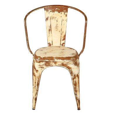 Distressed Bistro Chair Finish: Ivory
