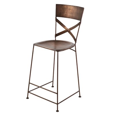 Dayton 26 Bar Stool Upholstery: Copper