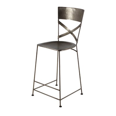 Dayton 26 Bar Stool Upholstery: Antique Nickel