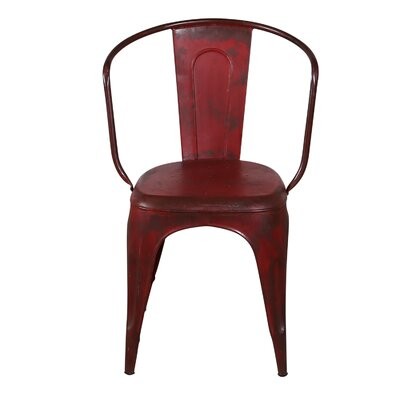 Distressed Bistro Chair Finish: Red