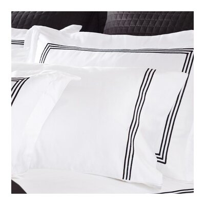 Decorative Pillow with Triple Embroidered Stripes Cotton Boudoir/Breakfast Pillow Color: Ecru