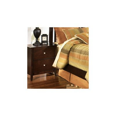 Bascomb 2 Drawer Nightstand