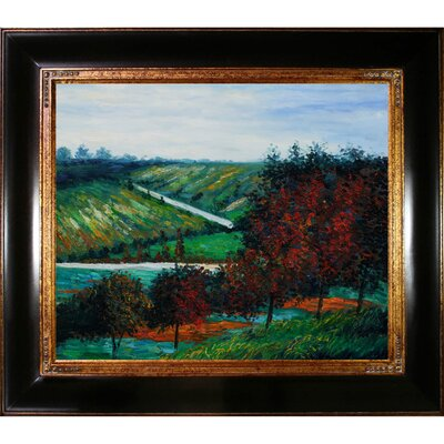 Apple Trees in Bloom at Vetheuil 1887 by Claude Monet Framed Painting CST10911 13739807