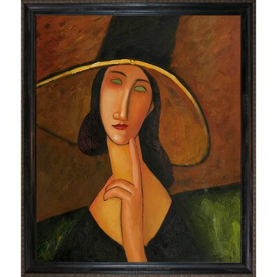 Portrait of Woman in Hat by Amedeo Modigliani Framed Painting CST10754 13739650