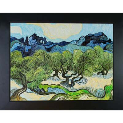 Olive Trees with the Alpilles in the Background by Vincent Van Gogh Framed Painting CST10744 13739640