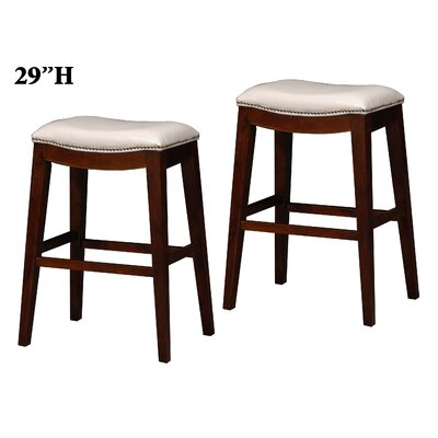 29 inch Bar Stool Upholstery: White