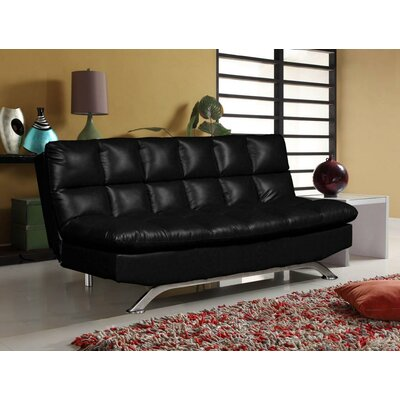 Lorenzo Convertible Sofa Upholstery: Black