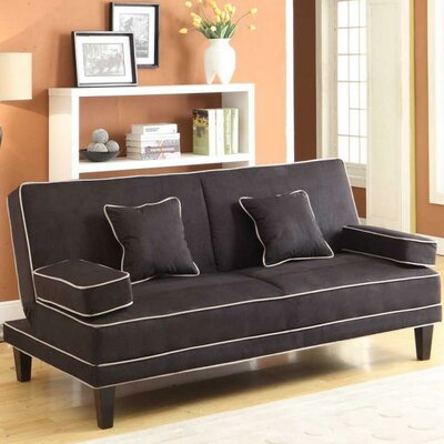 Wildon Home CST35660 26761708  Microfiber Two Tone Piping Convertible Sofa