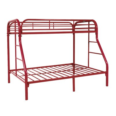 Twin over Full Bunk Bed Color: Red