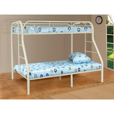 Twin over Full Bunk Bed Color: White