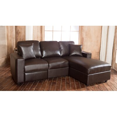 Lillian Reclining Sectional Upholstery: Espresso