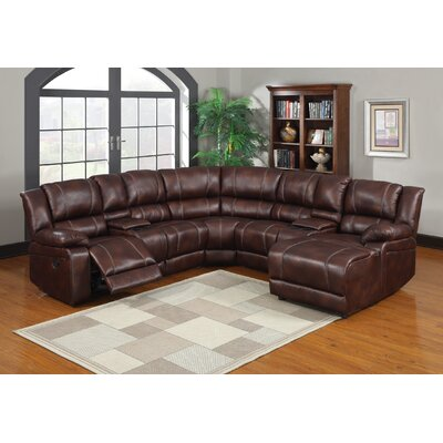 Bandini Reclining Sectional Upholstery: Espresso