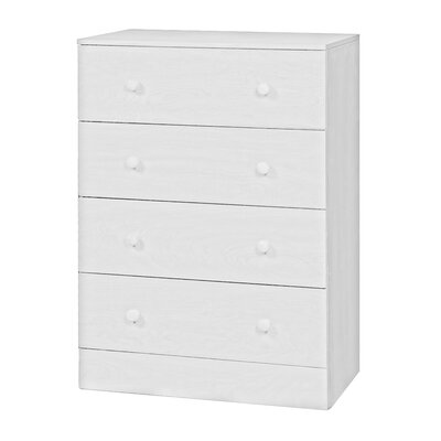 Arthur 4 Drawer Chest Color: White
