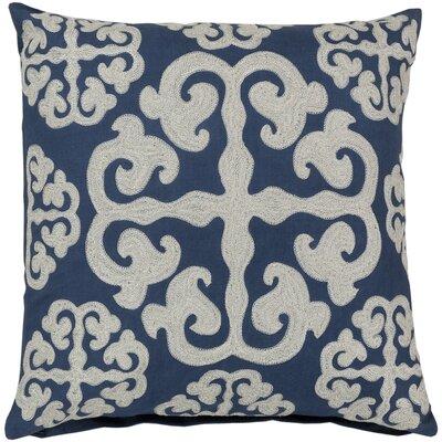 Lush Lattice Throw Pillow Size: 18, Color: Mediterranean Blue / Papyrus, Filler: Polyester
