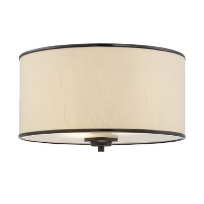 Kyle 2-Light Flush Mount Finish / Shade: English Bronze / Cream