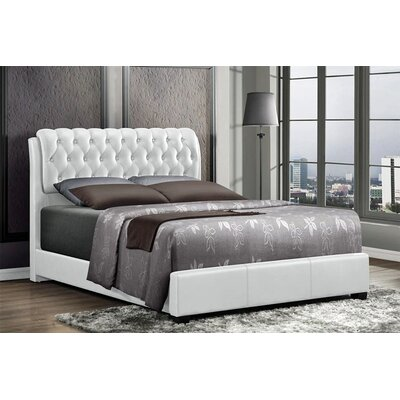 Barnes Upholstered Panel Bed Finish: White, Size: Queen