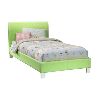 Midtown Upholstered Platform Bed Size: Full, Color: Green