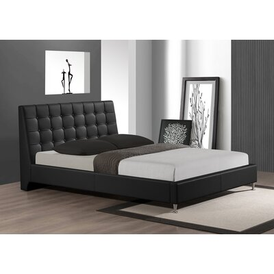 Belle Upholstered Platform Bed Size: King, Finish: Black