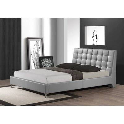 Belle Upholstered Platform Bed Size: Queen, Finish: Gray