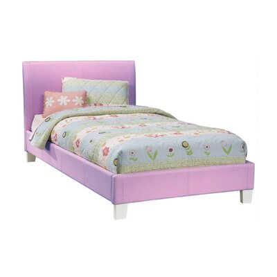 Midtown Upholstered Platform Bed Size: Full, Color: Lavender